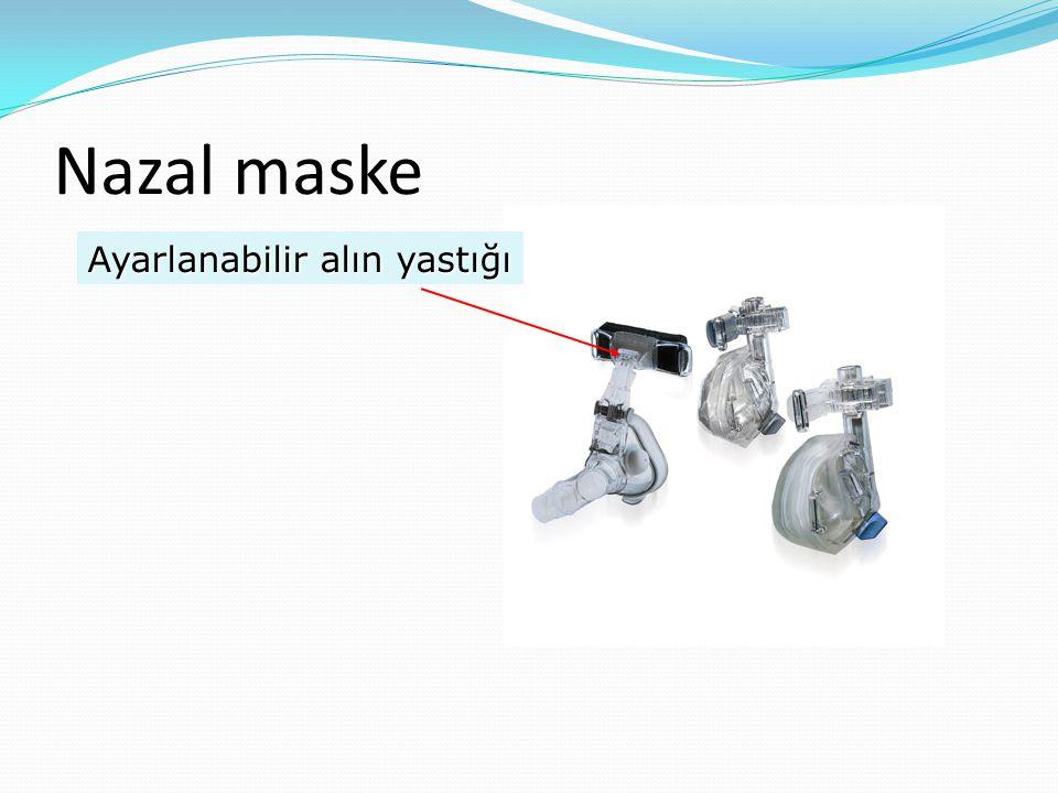 Nazal maske Ayarlanabilir alın yastığı