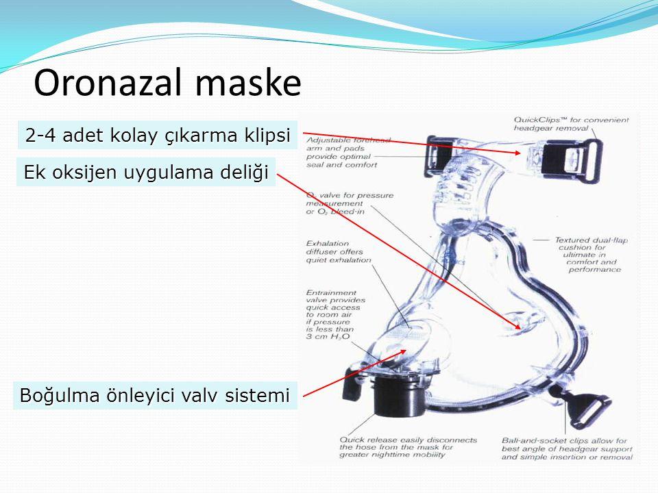 Oronazal maske 2-4 adet kolay çıkarma klipsi Boğulma önleyici valv sistemi Ek oksijen uygulama deliği