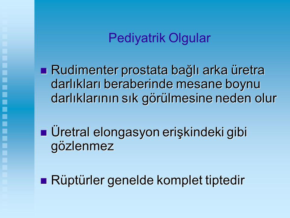 Pediyatrik Olgular Rudimenter prostata bağlı arka üretra darlıkları beraberinde mesane boynu darlıklarının sık görülmesine neden olur Rudimenter prost