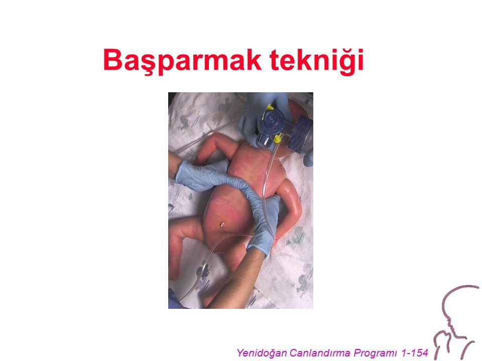 Yenidoğan Canlandırma Programı 1-154 Başparmak tekniği