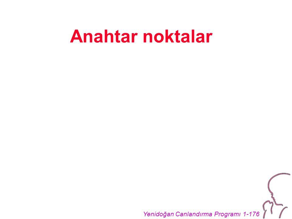 Yenidoğan Canlandırma Programı 1-176 Anahtar noktalar