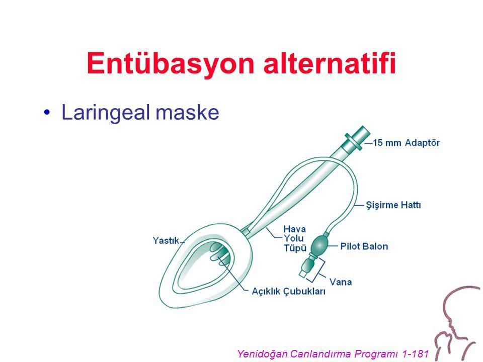 Yenidoğan Canlandırma Programı 1-181 Entübasyon alternatifi Laringeal maske
