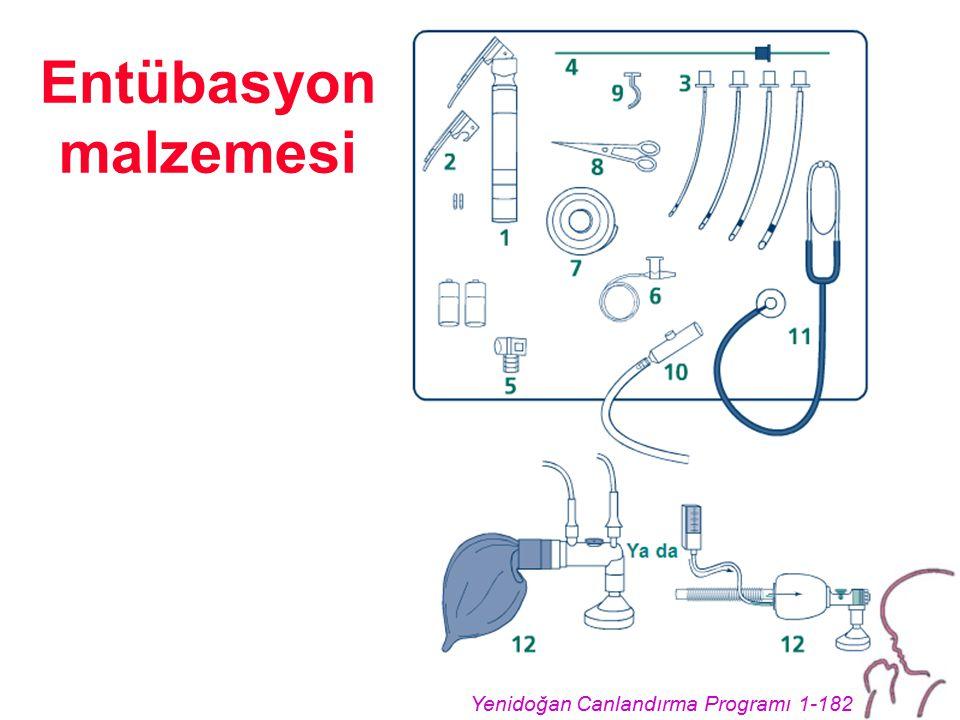 Yenidoğan Canlandırma Programı 1-182 Entübasyon malzemesi