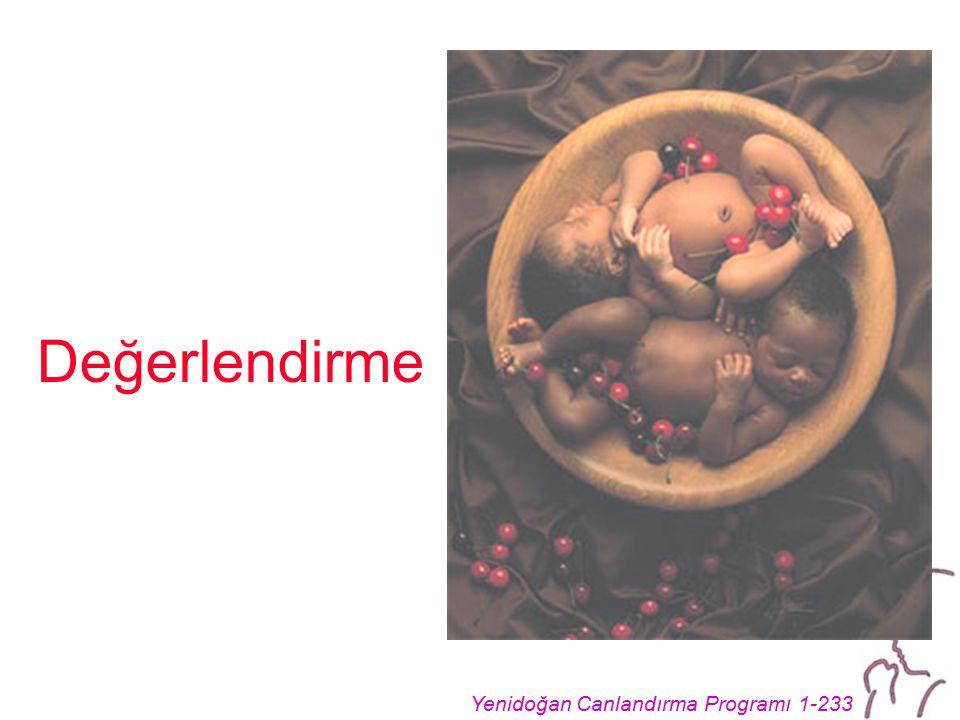 Yenidoğan Canlandırma Programı 1-233 Değerlendirme
