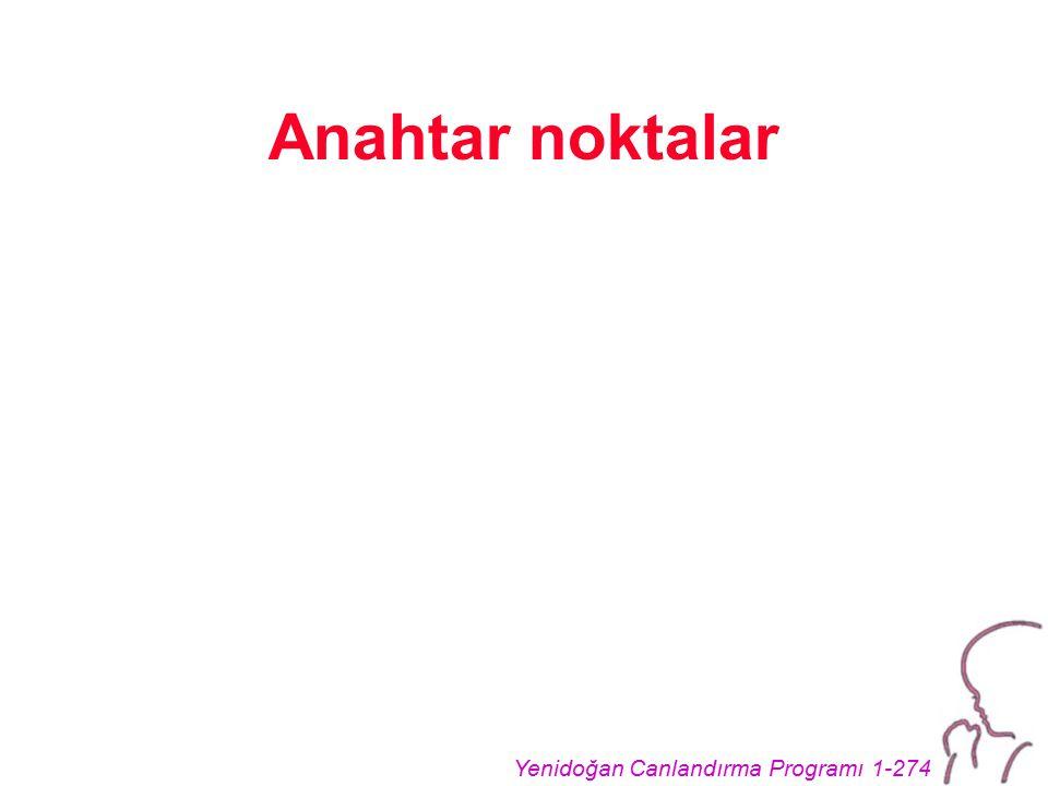 Yenidoğan Canlandırma Programı 1-274 Anahtar noktalar