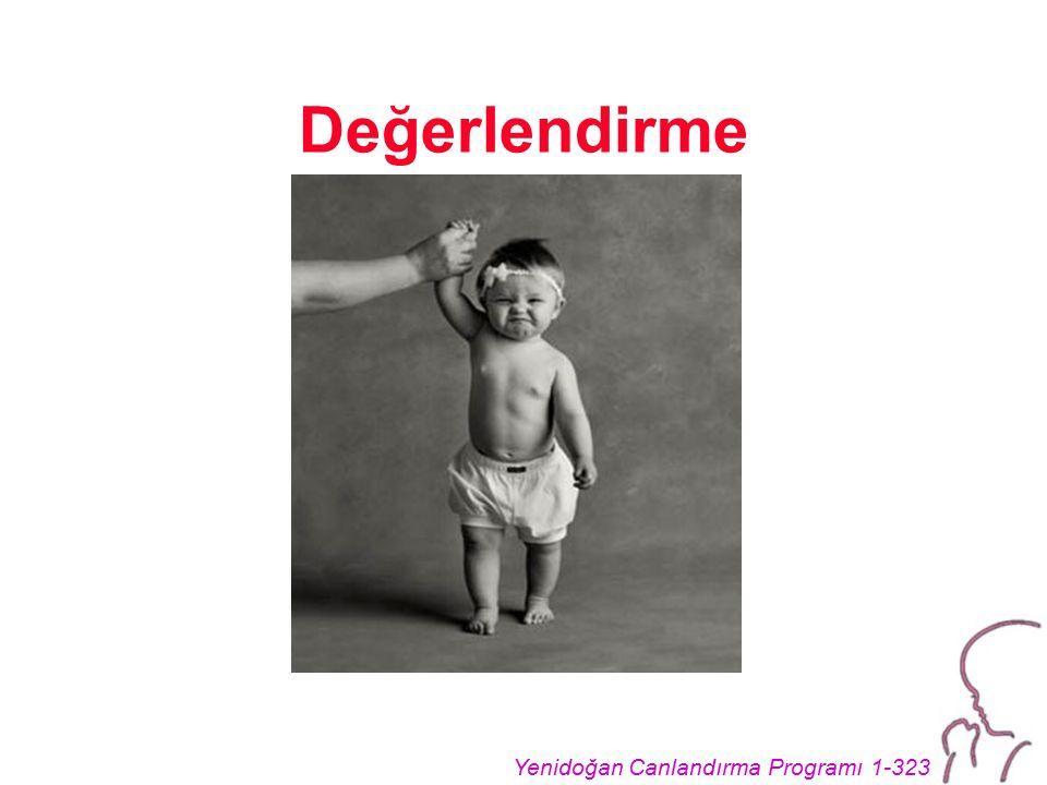 Yenidoğan Canlandırma Programı 1-323 Değerlendirme