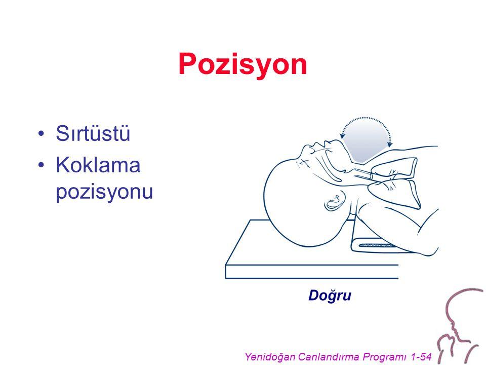 Yenidoğan Canlandırma Programı 1-54 Pozisyon Sırtüstü Koklama pozisyonu