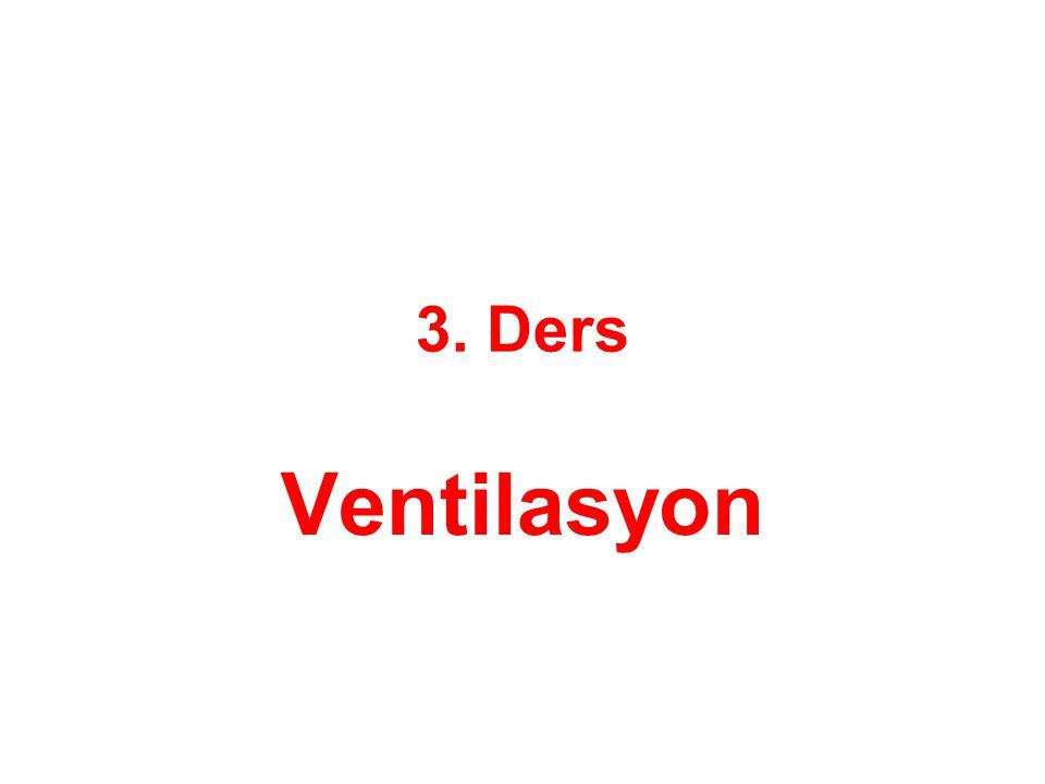 3. Ders Ventilasyon