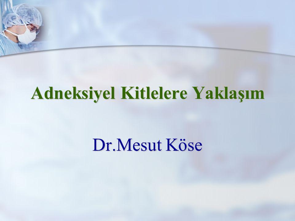 Adneksiyel Kitlelere Yaklaşım Dr.Mesut Köse