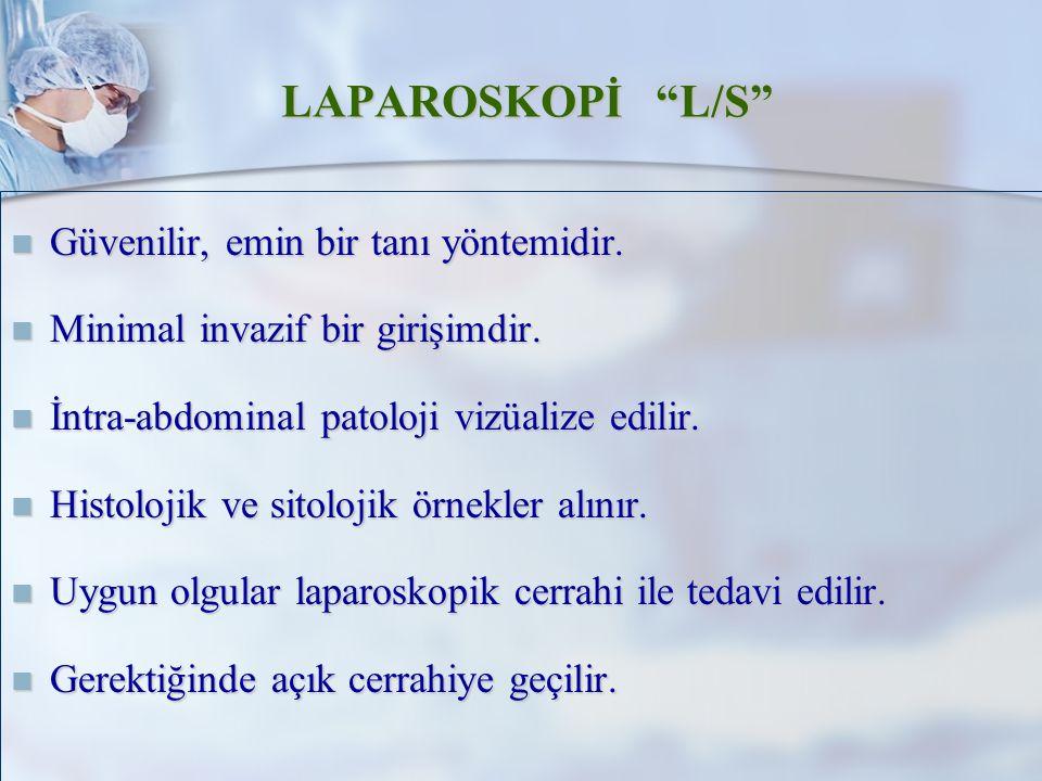 LAPAROSKOPİ L/S Güvenilir, emin bir tanı yöntemidir.
