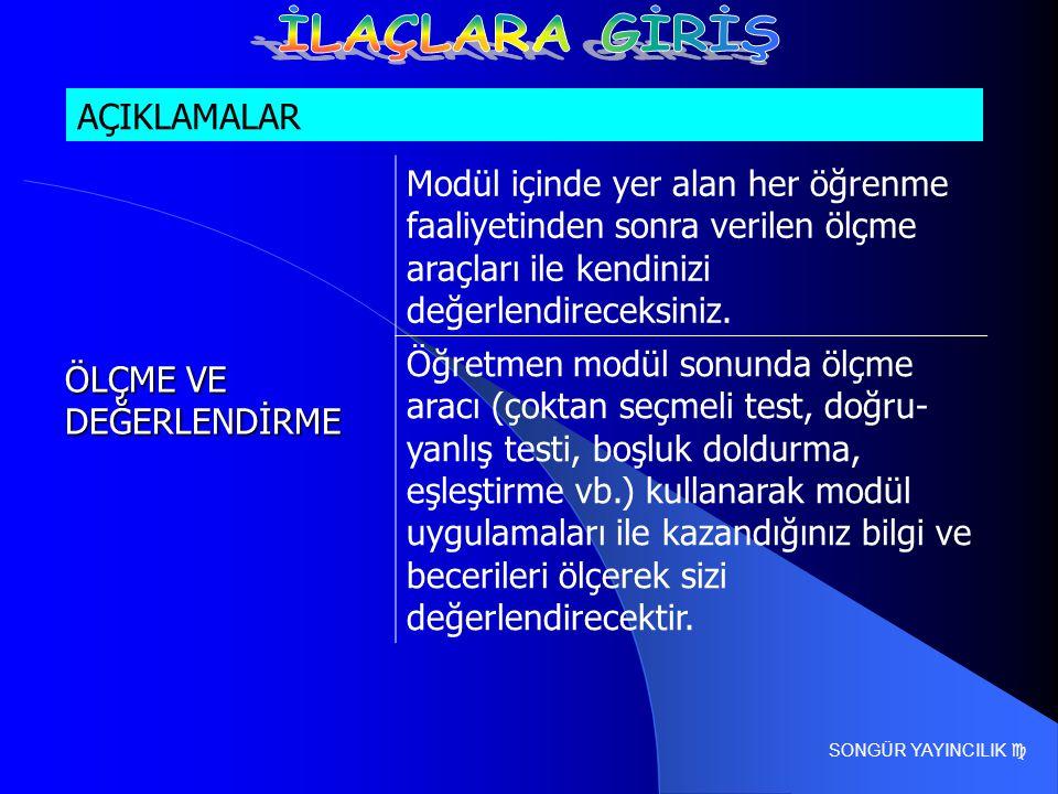 SONGÜR YAYINCILIK  ÖLÇME VE DEĞERLENDİRME 3.
