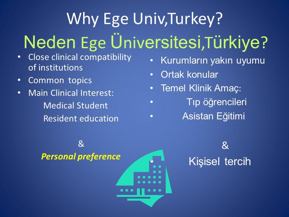 Why Ege Univ,Turkey.