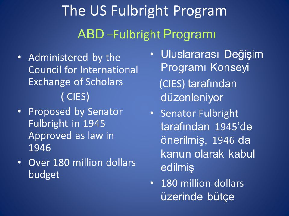 Fulbright program 2 nd tenure Fulbright Alumni Initiative Award Two faculty visiting Ege ( Prof.