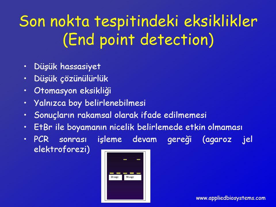 Son nokta tespitindeki eksiklikler (End point detection) Düşük hassasiyet Düşük çözünülürlük Otomasyon eksikliği Yalnızca boy belirlenebilmesi Sonuçla