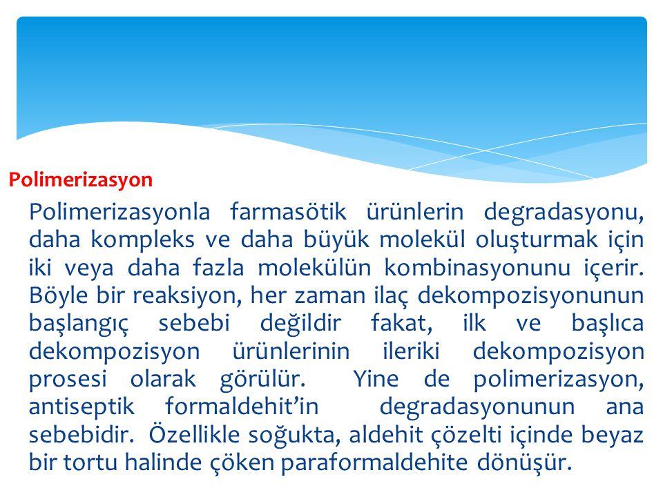 Dekarboksilasyon İsminden de anlaşıldığı gibi, dekarboksilas-yon, bileşikten karbondioksitin ayrılmasıdır.