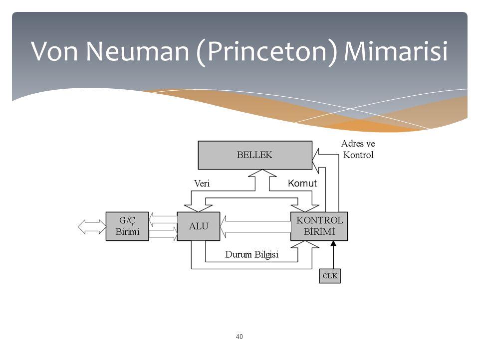 40 Von Neuman (Princeton) Mimarisi