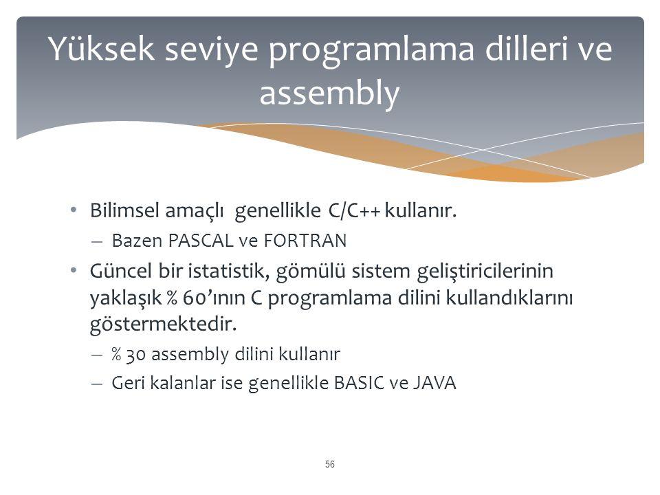 Bilimsel amaçlı genellikle C/C++ kullanır.