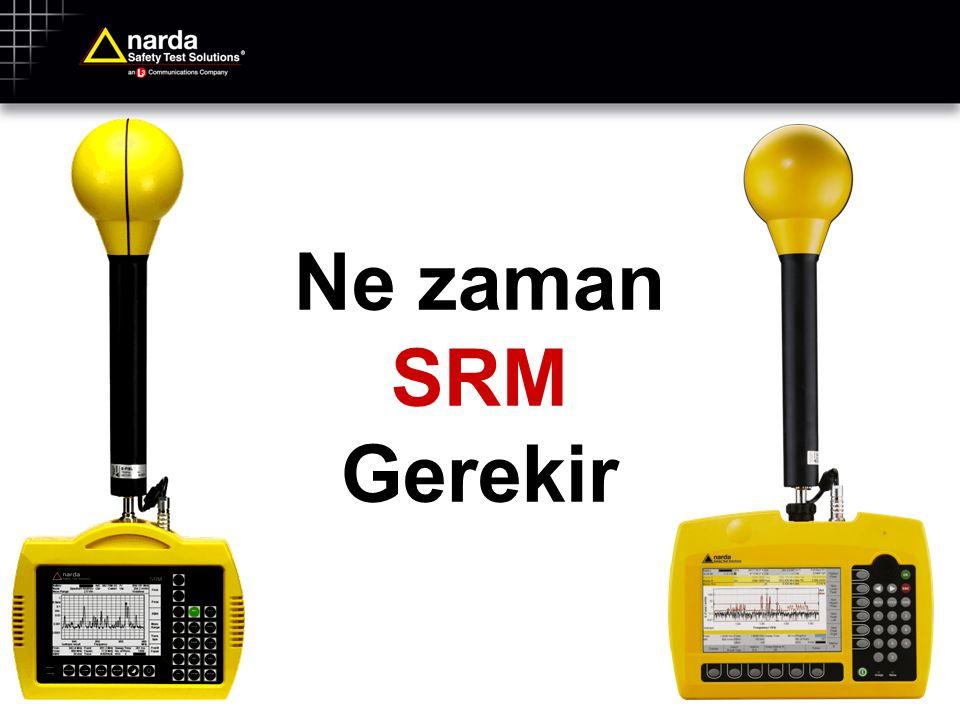 SRM-3006 Genel Çalışma Özellikleri SRM-3006 İsteğe bağlı konfigürasyon (Anten, Kablo, Servis Tablosu, Standart, Kurulum) Olayların kaydı (Şartlı ve zaman kontrollü kayıt) Bölge ortalaması Otomatik ölçüm rutinleri GPS / sesli kayıt Güvenlik ÖlçümüSpektrum AnaliziSeviye KayıtOsiloskopUMTS Elektromanyetik alanın toplu görünümü: Grafik veya tablo ile Elektromanyetik alan detayları: Grafik veya tablo ile Sinyallerin zaman eğrisi üzerinde tanımlanma amacıyla sunumu Gerçek zamanlı Analiz için sinyallerin zaman üzerinde detayları P-CPICH ve UMTS demodülasyonu Toplam Dağılım Tepe Değerler Tablo Genişbantlı değer (Entegrasyon / Channel Power Ölçümü Darbe şekilleri Tetikleyen olaylar Tahmin (Ekstrapolasyon) + + ++