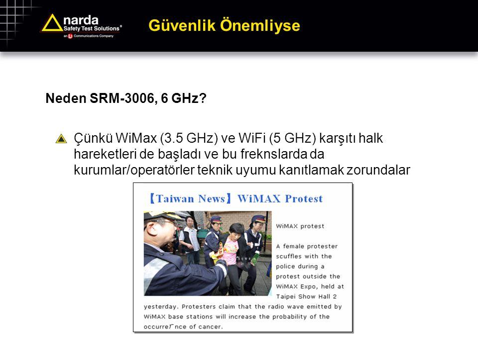 Güvenlik Önemliyse Neden SRM-3006, 6 GHz? Çünkü WiMax (3.5 GHz) ve WiFi (5 GHz) karşıtı halk hareketleri de başladı ve bu freknslarda da kurumlar/oper