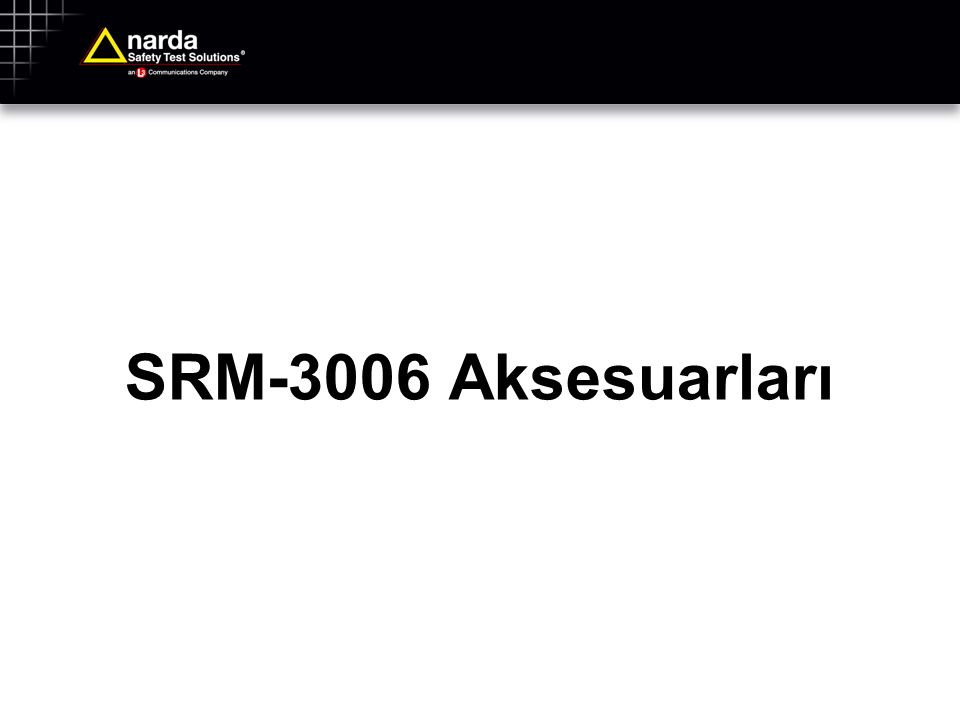 SRM-3006 Aksesuarları