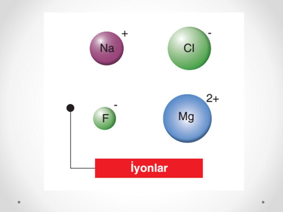 Oksijen atomu aşağıda gösterildiği gibi, soy gaz katman-elektron dizilimine sahip olmak için ya iki elektron almalı ya da altı elektron vermelidir.