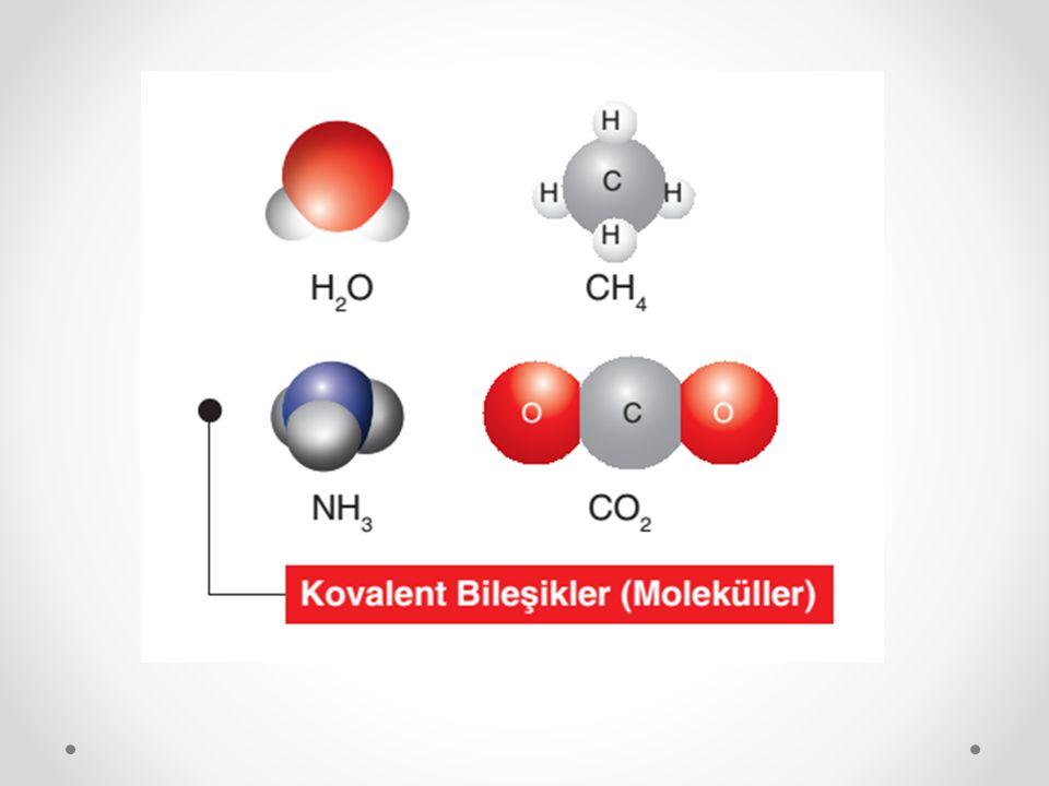 CO 2 molekülü, ikili kovalent bağ içeren moleküllere bir diğer örnektir.