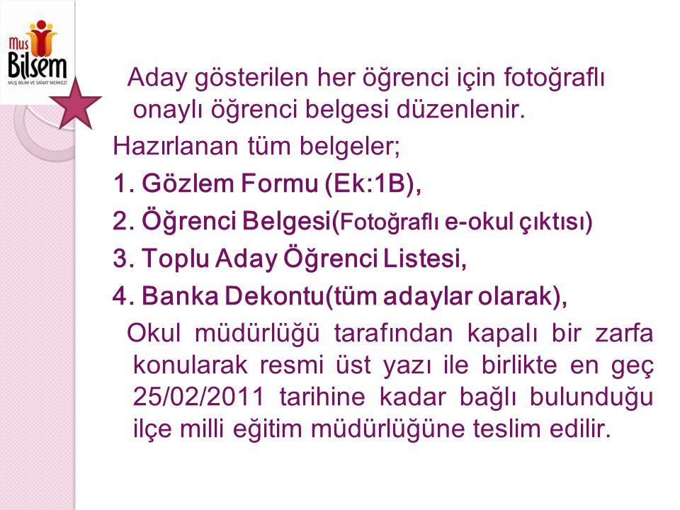 TANILAMA SÜREC İ Ön Değerlendirme Aday gösterilen ilköğretim kurumları 2.