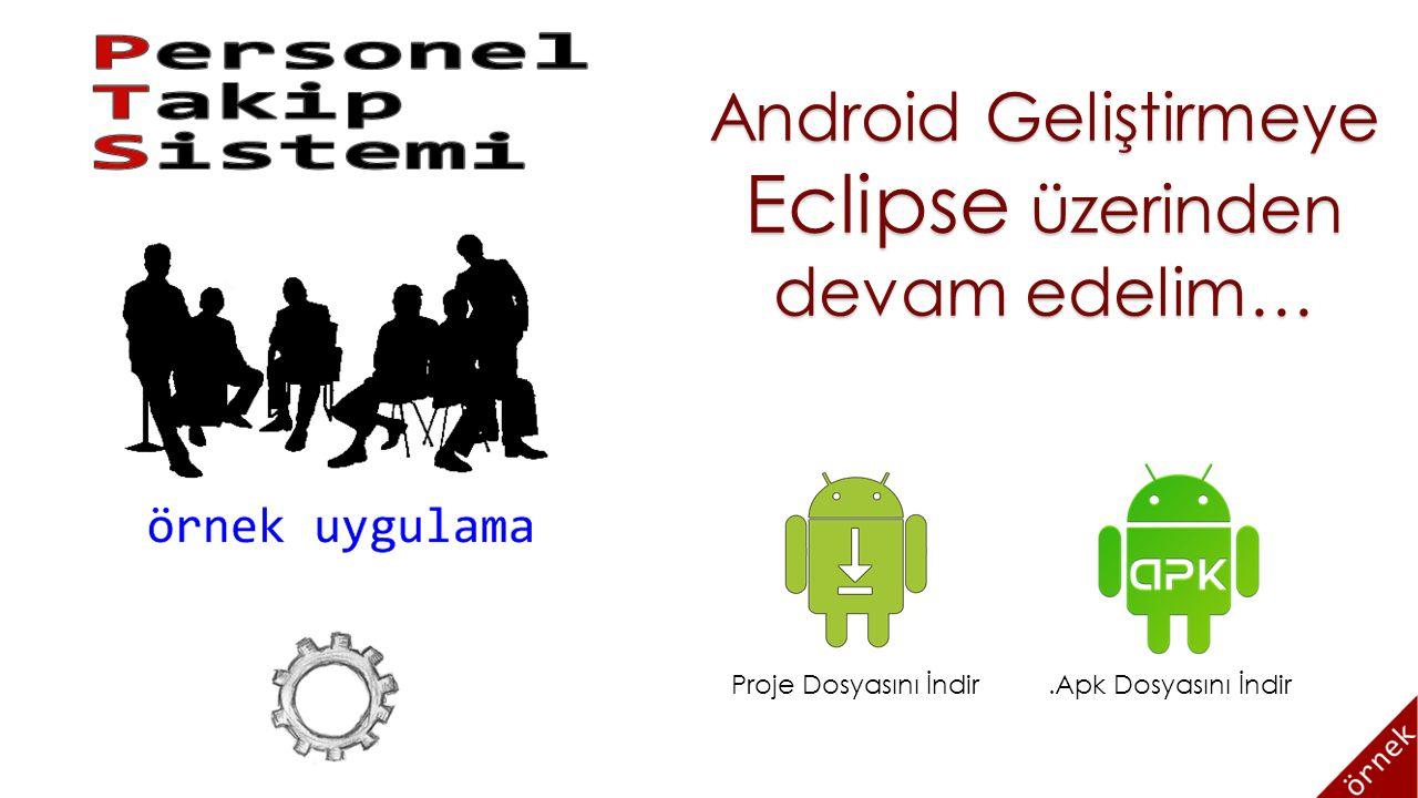 Android Geliştirmeye Eclipse üzerinden devam edelim… Proje Dosyasını İndir.Apk Dosyasını İndir