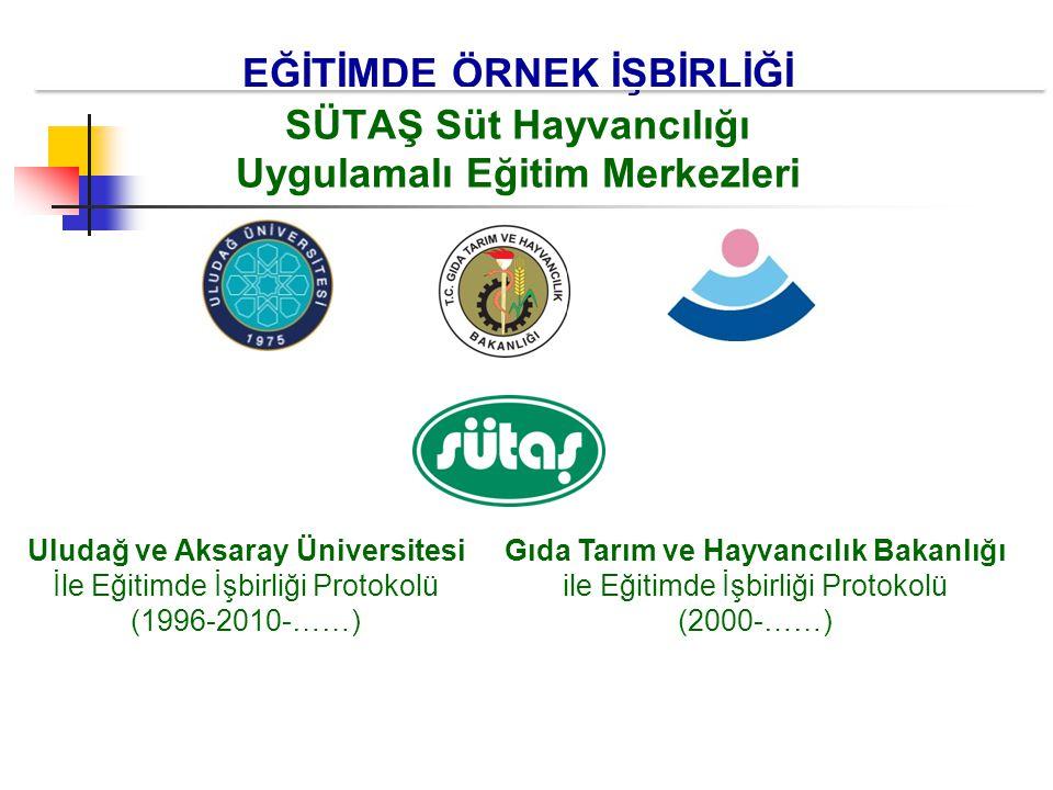 EĞİTİMDE ÖRNEK İŞBİRLİĞİ SÜTAŞ Süt Hayvancılığı Uygulamalı Eğitim Merkezleri Gıda Tarım ve Hayvancılık Bakanlığı ile Eğitimde İşbirliği Protokolü (200