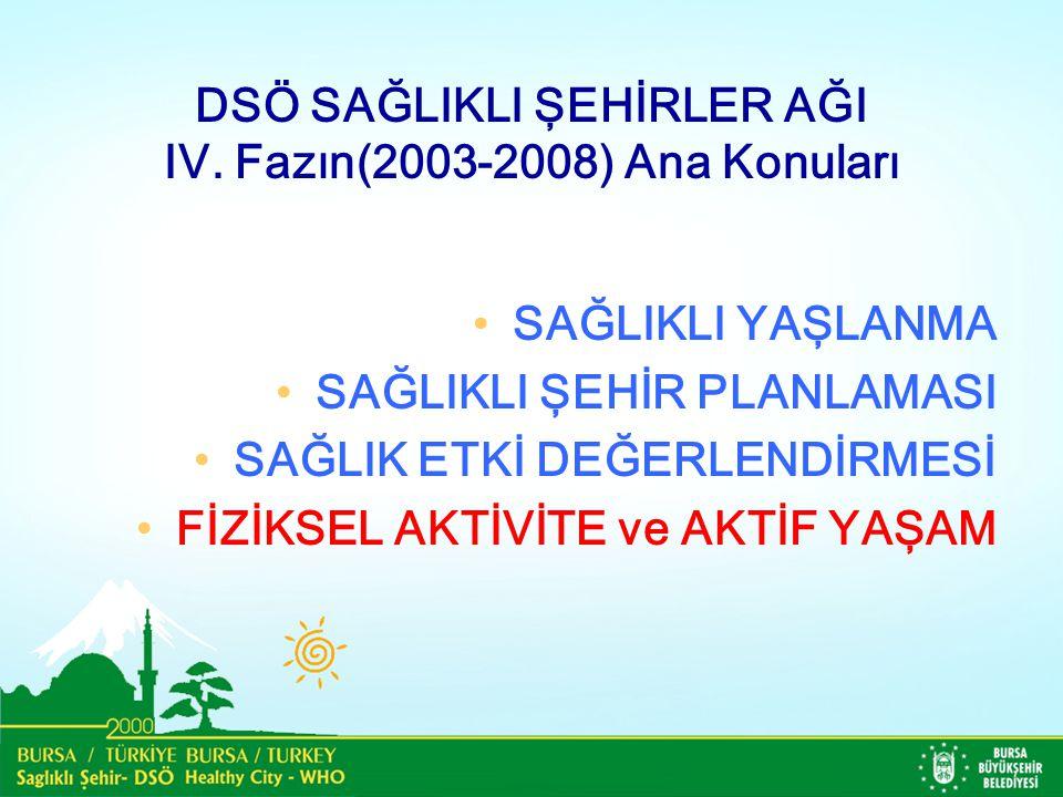 DSÖ SAĞLIKLI ŞEHİRLER AĞI IV.