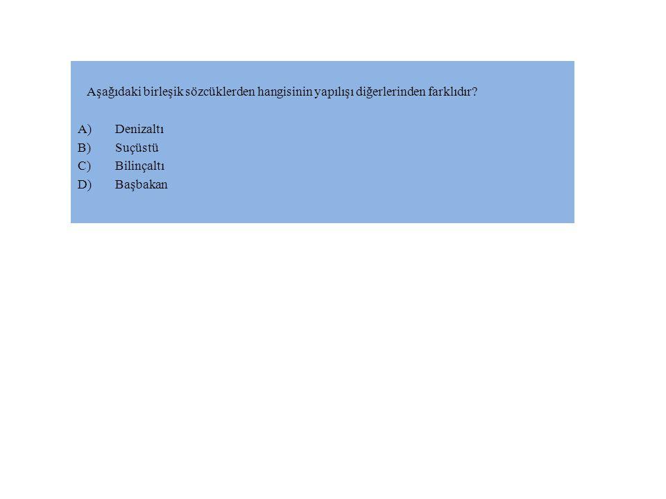 Aşağıdaki birleşik sözcüklerden hangisinin yapılışı diğerlerinden farklıdır.