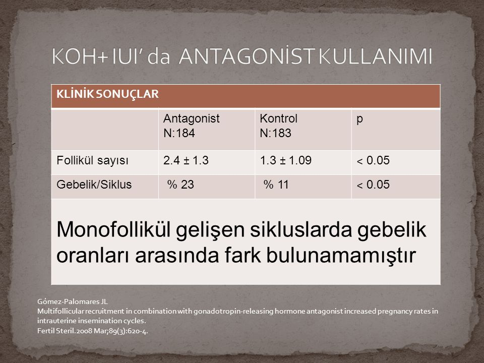 ANTAGONİST KULLANILMAYAN 1.