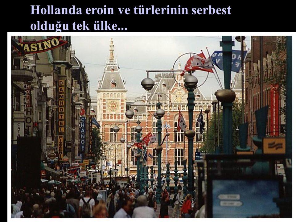 Hollanda eroin ve türlerinin serbest olduğu tek ülke...