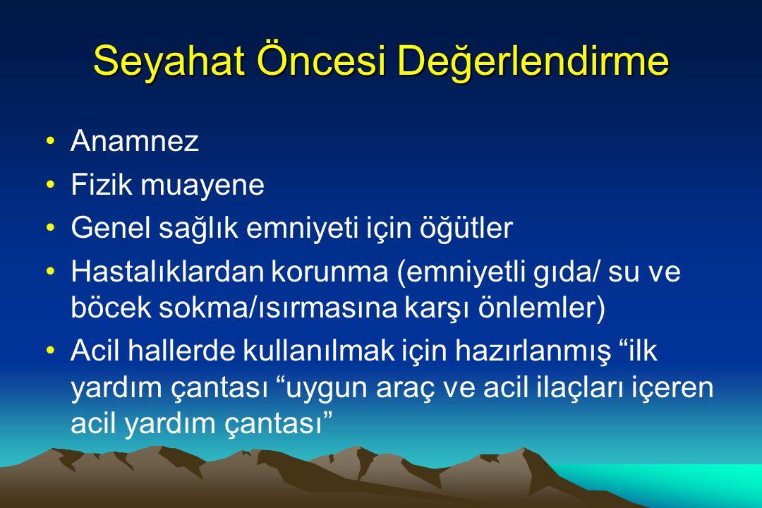İlişkili Web Adresleri www.cdc.gov http://travel.state.gov/travel/tips/brochures / brochures_1230.html www.magellans.com www.tripprep.com www.travmed.com www.Travel.state.gov/ travel_warnings www.travelhealth.com/wms www.istm.org www.who.ch www.wms.org