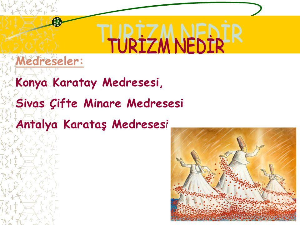Camiler: Edirne Selimiye Cami, İstanbul Eyüp Sultan Cami, Süleymaniye Cami, Sultan Ahmet Cami
