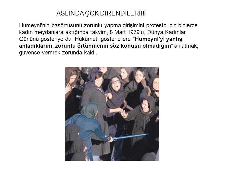 Humeyni nin başörtüsünü zorunlu yapma girişimini protesto için binlerce kadın meydanlara aktığında takvim, 8 Mart 1979 u, Dünya Kadınlar Gününü gösteriyordu.