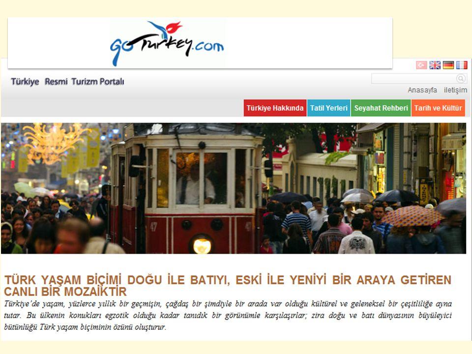 Türkiye ile ilgili Genel Turizm İstatistikleri 2011 yılı Türk Turizmi verileri 31.5 milyon uluslararası turist girişi, 23 milyar ABD$ turizm geliri.
