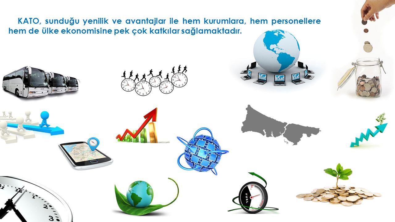  KATO, sunduğu yenilik ve avantajlar ile hem kurumlara, hem personellere hem de ülke ekonomisine pek çok katkılar sağlamaktadır.