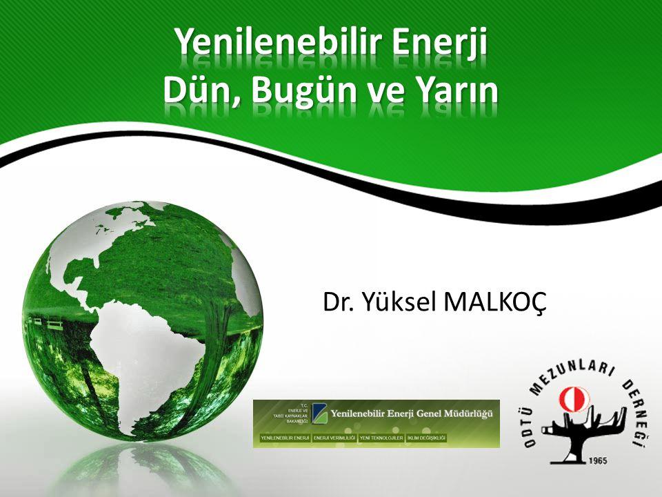 Elektrik üretimine yenilenebilir ile başlanmıştır.