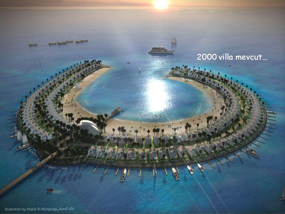 Her villanın önünde yat park alanı, mini marina mevcut…