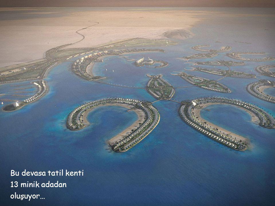 Bu devasa tatil kenti 13 minik adadan oluşuyor…