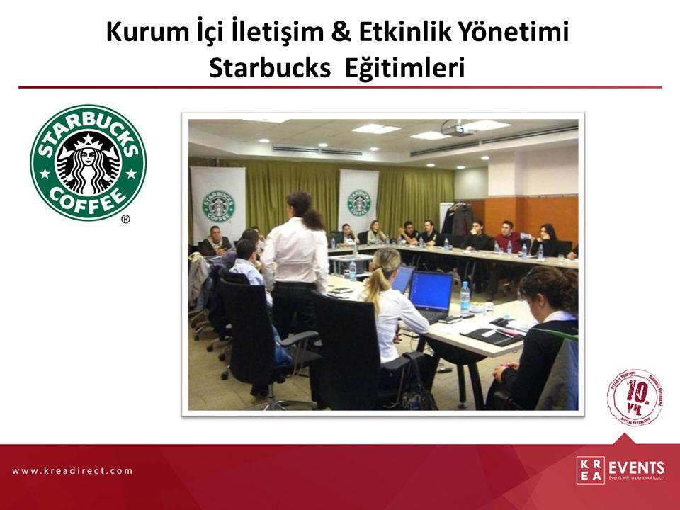 Kurum İçi İletişim & Etkinlik Yönetimi Starbucks Eğitimleri