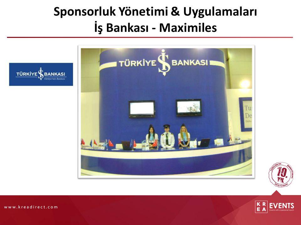 Sponsorluk Yönetimi & Uygulamaları İş Bankası - Maximiles