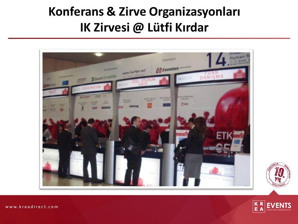 Konferans & Zirve Organizasyonları IK Zirvesi @ Lütfi Kırdar