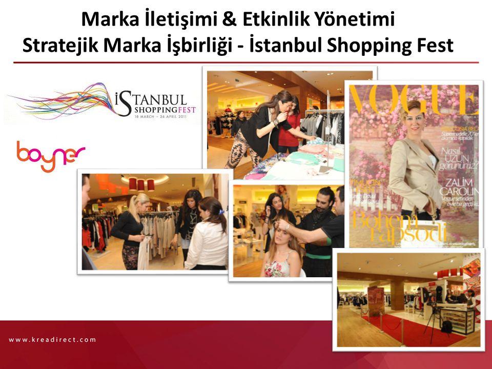 Marka İletişimi & Etkinlik Yönetimi Stratejik Marka İşbirliği - İstanbul Shopping Fest