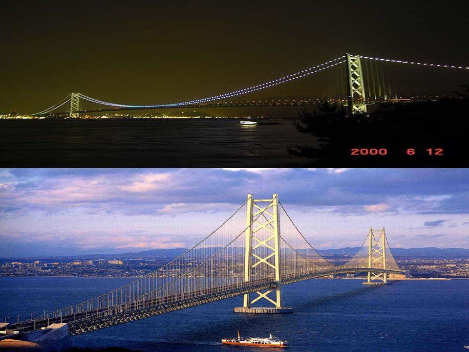 AKASHİ KAİKYO KÖPRÜSÜ Akaşi Kaikyo Köprüsü, Japonya da, Kobe şehri ile Avaci adasını birbirine bağlayan, dünyanın en uzun asma köprüsüdür.