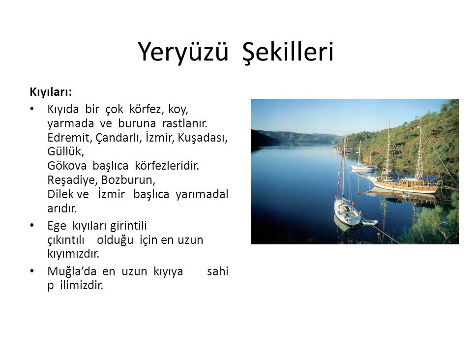 Yeraltı Zenginlikleri Soma ve Yatağan'da linyit Eğmir'de demir Menteşe yöresinde krom Ödemiş'te civa İzmir Çamaltı tuzlası denizden elde edilen tuzun en büyük üretim merkezidir.