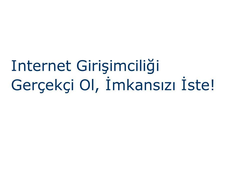 Internet Girişimciliği Gerçekçi Ol, İmkansızı İste!