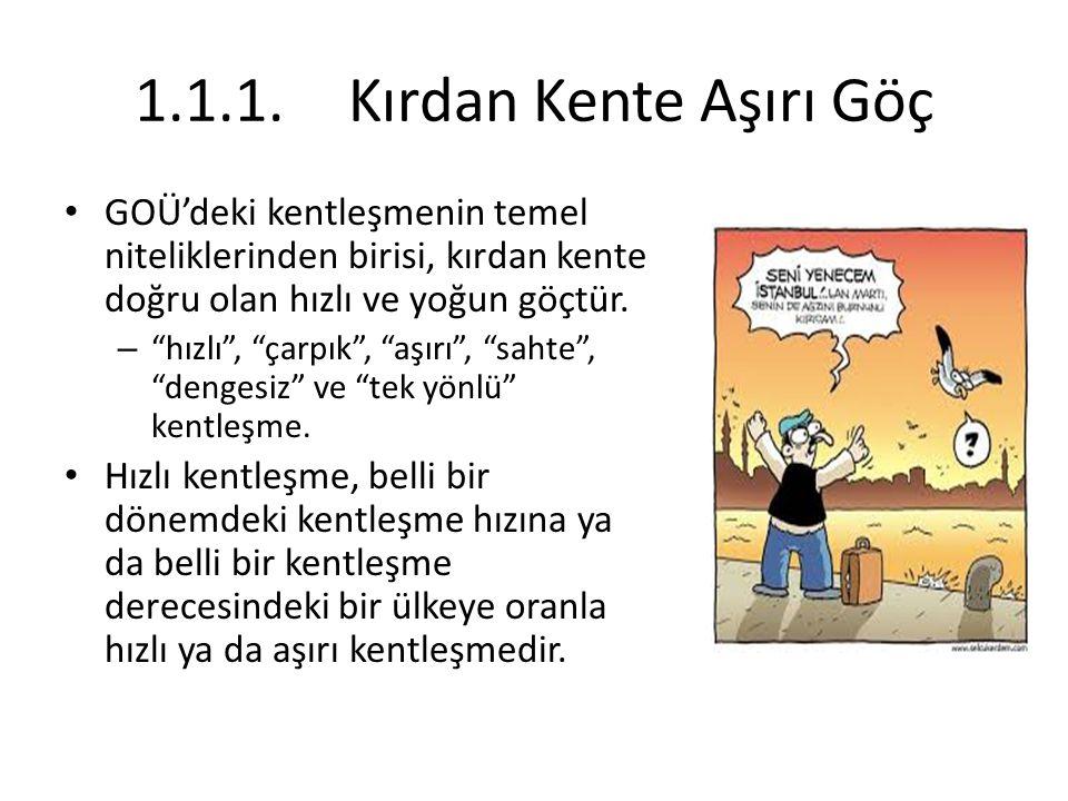Türkiye'deki kentleşmenin bir diğer belirgin özelliği de bölgeler arasındaki farklılıklardır.
