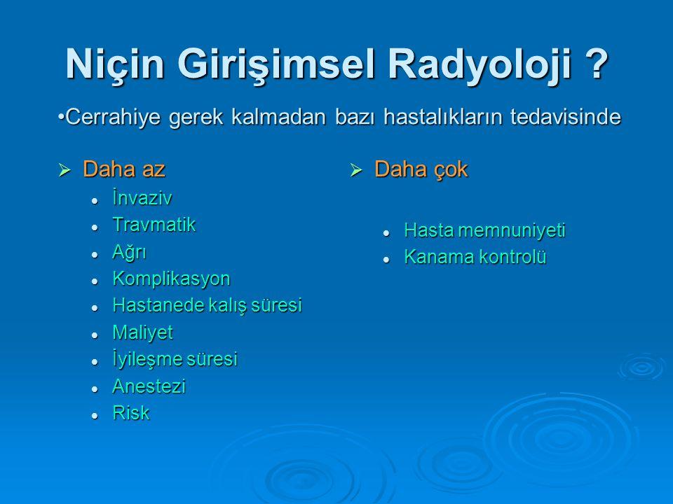 Niçin Girişimsel Radyoloji .